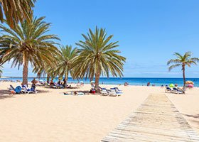 Tenerife Southeast coast... Playa Teresita - a wonderful beach with palm trees and yellow sand