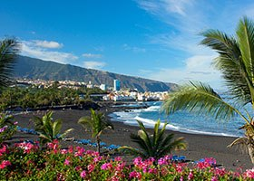 Tenerife - Puerto de la Cruz... the beach Playa Jardin is one of the most beautiful beaches in the north