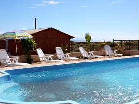 Holiday chalets on finca with pool in Abades
