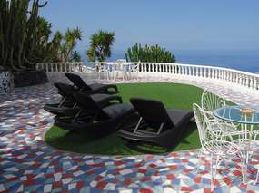 Modern semi-detached house with big terrace, garden, sea view, com. pool - Adeje