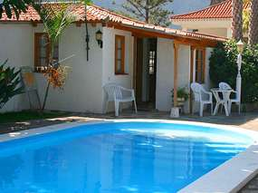 Holiday apartment at the pool on finca in Buenavista del Norte