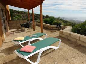 Finca apartment 2 with terrace & sea view above Costa Adeje