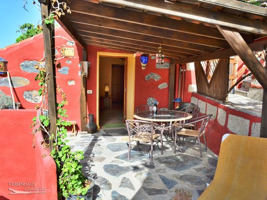 freistehendes haus auf romantischer finca garten pool temp wlan sauna teneriffa westen. Black Bedroom Furniture Sets. Home Design Ideas