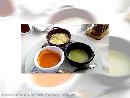 Teneriffas kulinarische Küche - verschieden Mojos