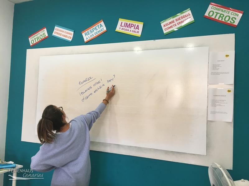 Spanischstunde in der Sprachschule