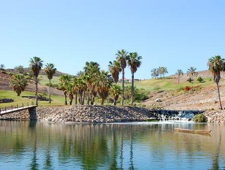 Blick auf den Golfplatz auf Gran Canaria