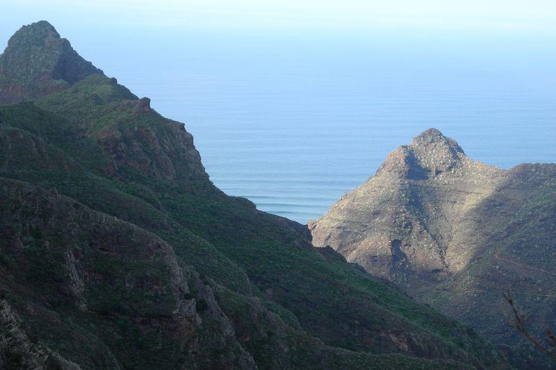 Blick auf das Bergmassiv