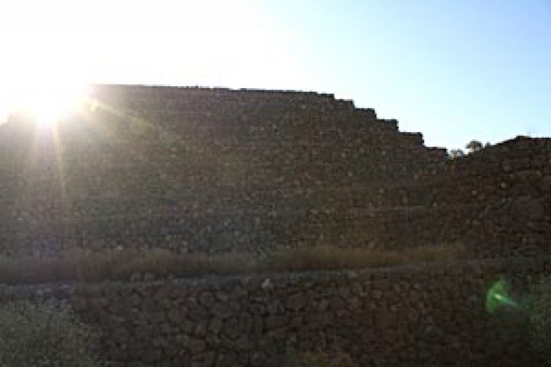 Blick auf die Pyramiden von Güimar