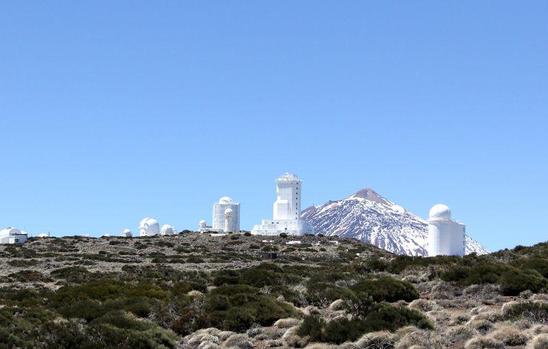 Blick auf das Observatorium Izaña auf Teneriffa